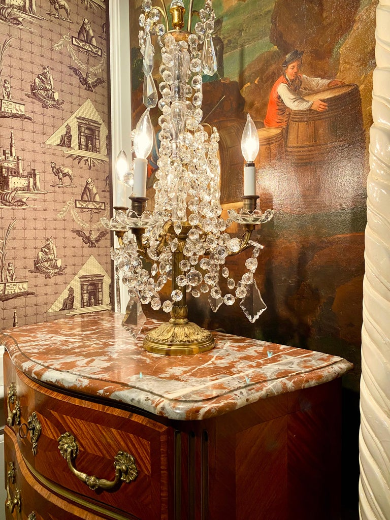 Regence Parquetry French Commode, Marble Top, 19th Century For Sale 4