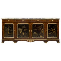 Régence Style Lacquer Mounted Side Cabinet by Maison Krieger, French, circa 1880