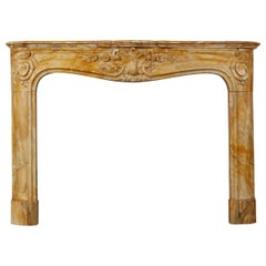 Regence Style Yellow Sienna Marble Mantel