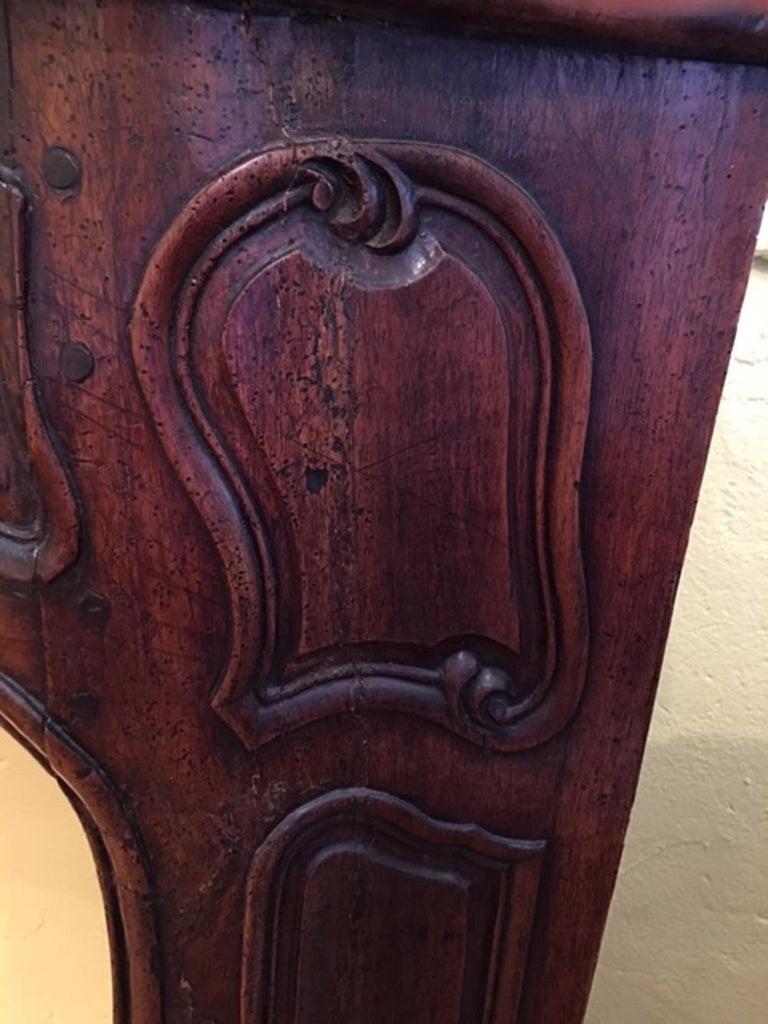 Regence Walnut Mantle Piece C1730 For Sale At 1stdibs