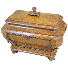 Regency 19th Century Burr Elm Cellarette