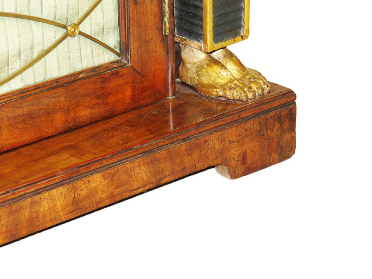 Regency 19th Century English Mahogany and Parcel Gilt Side Cabinet For Sale 2