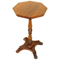 Regency 19th Century Rosewood Octagonal Wine Table