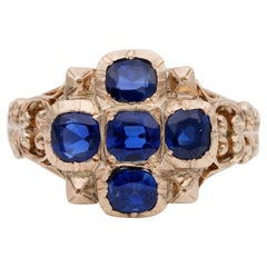2.80 Carat Natural No Heat Sapphire Rare Ring Possibly, French