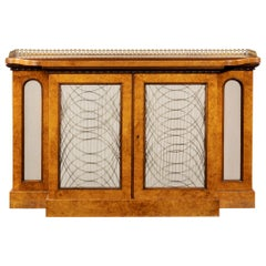 Regency Amboyna Breakfront Side Cabinet, circa 1815