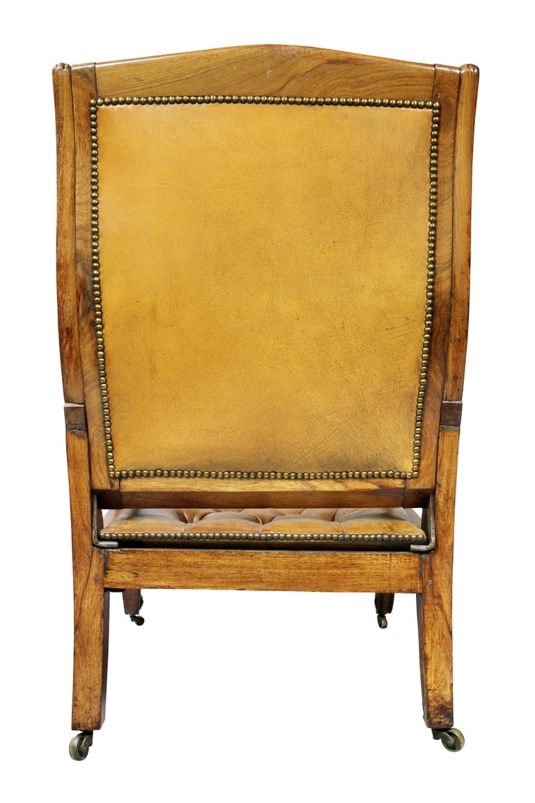 Regency Anglo Indian Rosewood Reclining Armchair For Sale 12