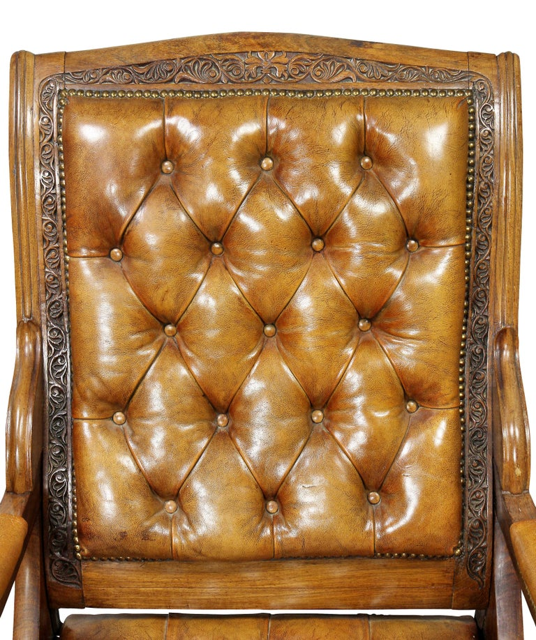 Regency Anglo Indian Rosewood Reclining Armchair For Sale 3