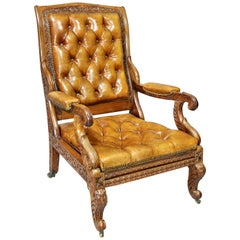 Regency Anglo Indian Rosewood Reclining Armchair