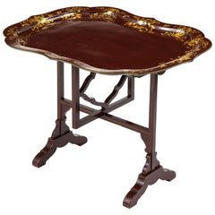 Regency Aubergine Lacquer Tray Table