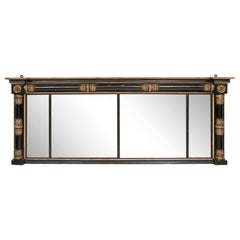 Regency Black Lacquer Mirror