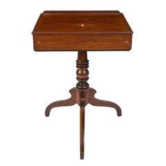 Regency Brass Inlaid Mahogany Reading Table