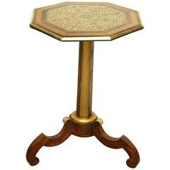Regency Brass Inlaid Side Table