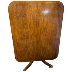 Regency Breakfast Table Tilt Top Mahogany & Rosewood Banded, circa 1810