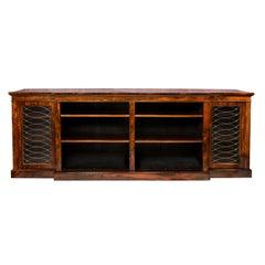 Regency Breakfront Bookcase Cabinet