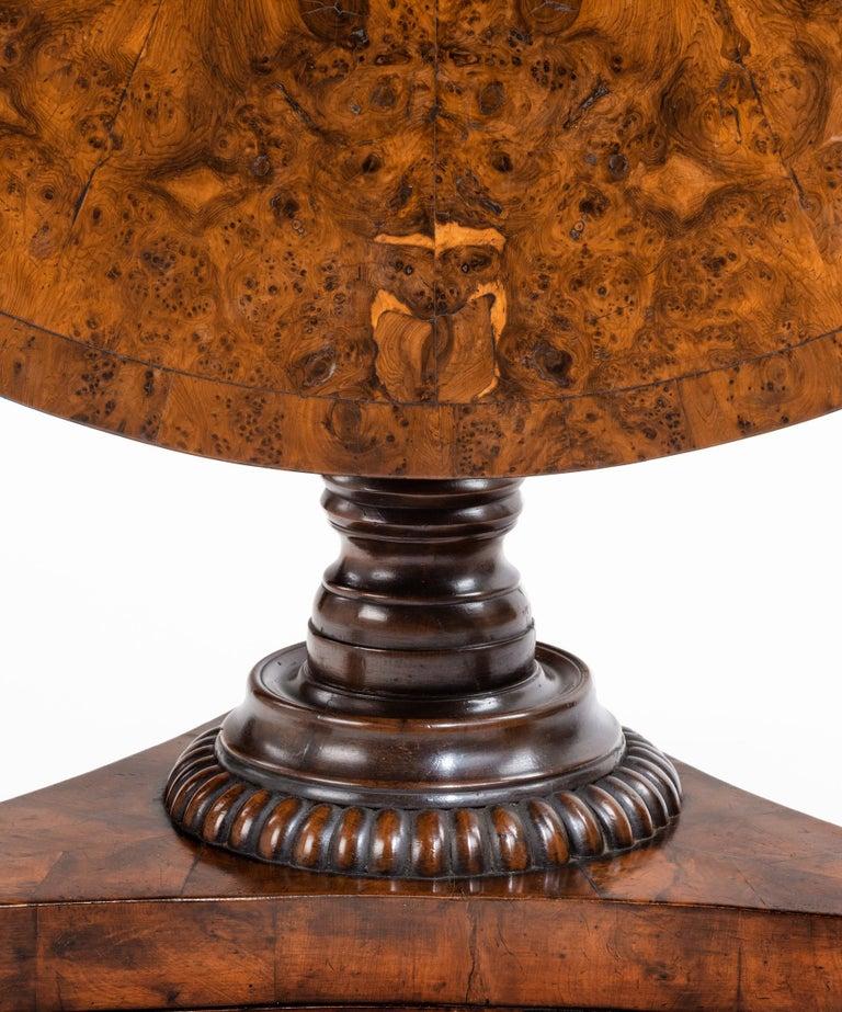19th Century Regency Burr Yew Veneered Centre Table For Sale