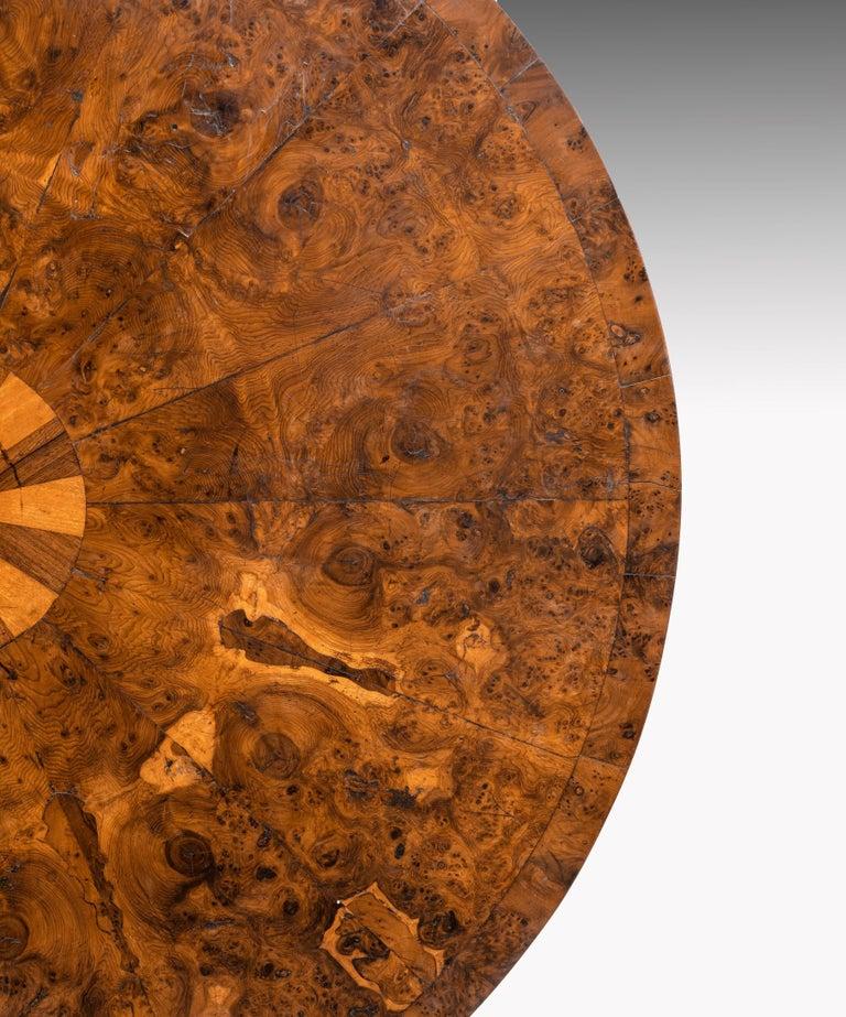 Regency Burr Yew Veneered Centre Table For Sale 4