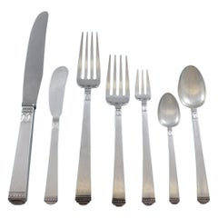 Regency by Lunt Sterling Silver Flatware Set for 6 Service 53 pieces