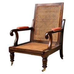 Regency Campaign Mahogany Library Chair, Early 19th Century