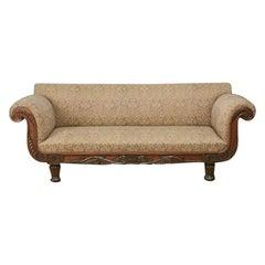Regency Carved Rosewood Sofa
