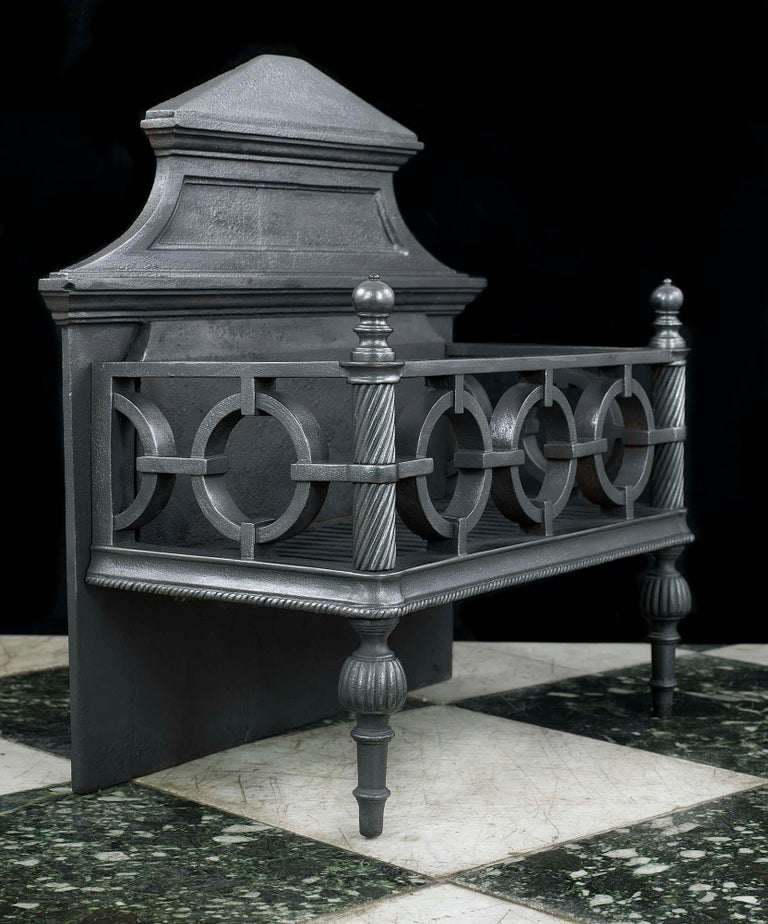 English Regency Cast Iron Fire Grate For Sale