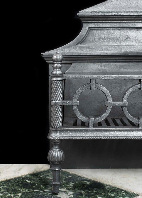 19th Century Regency Cast Iron Fire Grate For Sale