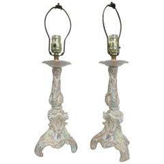 Regency Ceramic Capo Di Monte Style Floral Lamp