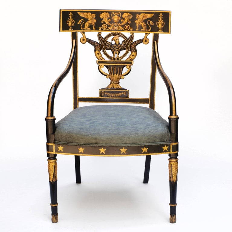 Regency Chair after Sheraton For Sale 5