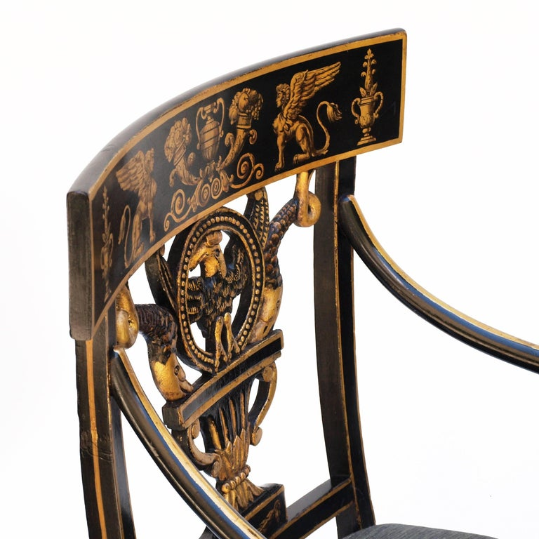 Regency Chair after Sheraton For Sale 6