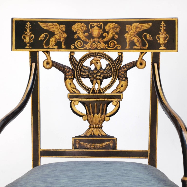 American Regency Chair after Sheraton For Sale