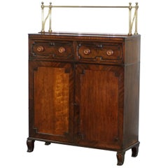 Regency Chiffonier with Large Brass Gallery & Flamed Mahogany Sideboard Gillows