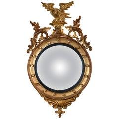 Regency Convex Giltwood Mirror