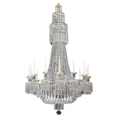 Regency Crystal Chandelier of Classic Tent and Basket Design by John Blades