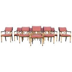 Regency Dining Chairs by Dorothy Draper Design for Henredon Set of 10