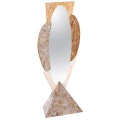 Regency Dressing Mirror, Marquis Collection of Beverly Hills Tessellated Stone