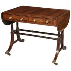 Regency Ebonized and Gilt Rosewood Sofa Table