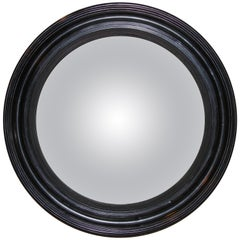 Regency Ebonized Convex Mirror