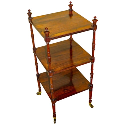 Regency English 19th Century Rosewood Whatnot Etage