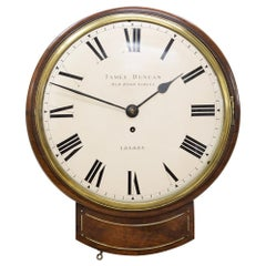 Regency English Drop Dial Clock by James Duncan, London