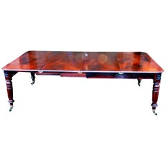Regency English Mahogany Antique Extending Dining Table