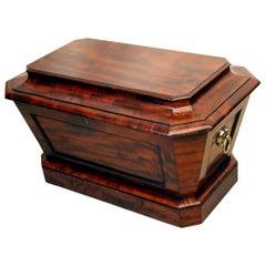 Regency English Mahogany Sarcophagus Shaped Wine Cooler