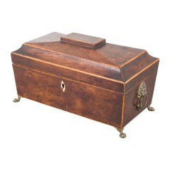 Regency 'English' Period Rosewood Sarcophagus Form Tea Caddy, circa 1820