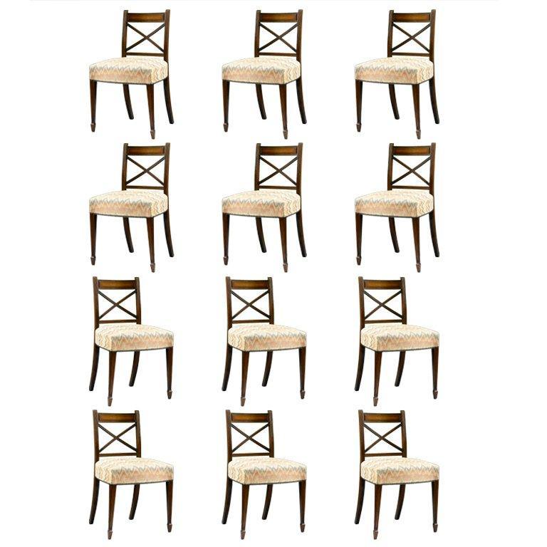 Regency Era Set of Dining Chairs
