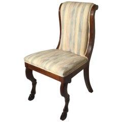 Regency Era Side Chair with Goat Hoof Front Legs