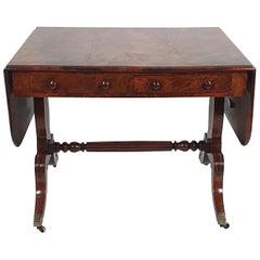 Regency Figured Solid Mahogany Sofa Table
