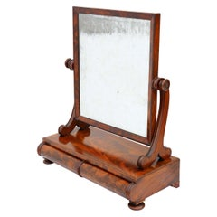 Regency Flame Mahogany Swing Dressing Table Mirror Toilet
