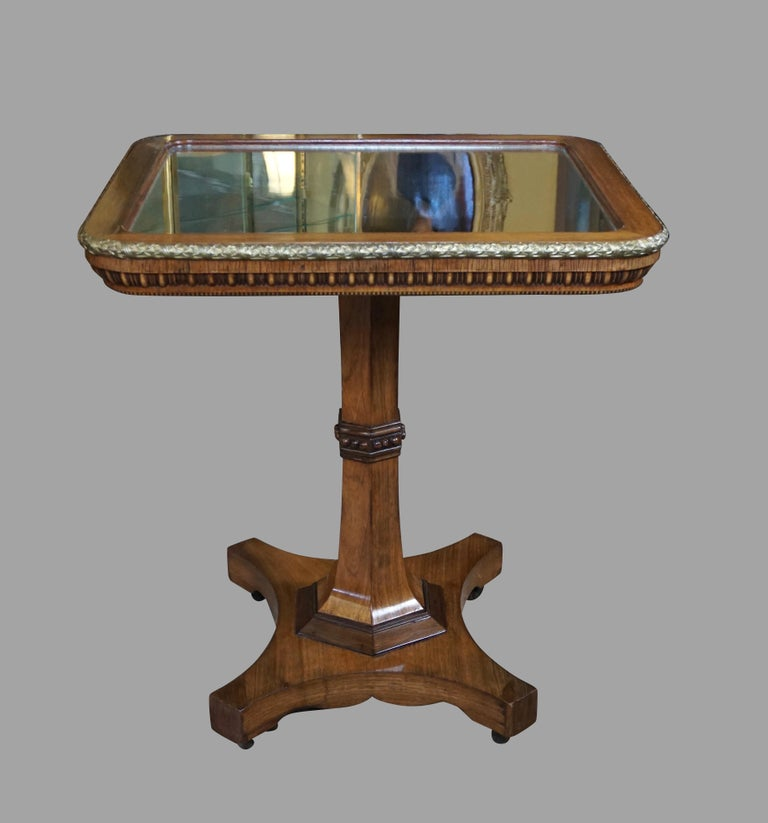 Regency Gilt Metal Mounted Tilt-Top Mirrored Occasional Table For Sale 6