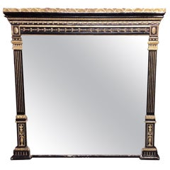Regency Gilt Overmantel Fireplace Mirror