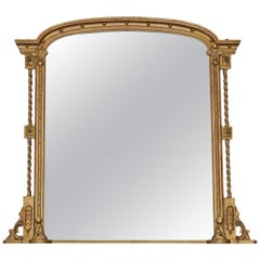 Regency Gilt Overmantle Wall Mirror