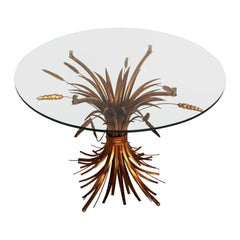 Regency Gilt Palm Tree and Wheat Coffee Table by Hans Kögl, 1970s