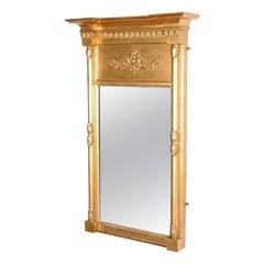 Regency Gilt Wood Pier Glass, 19th Century